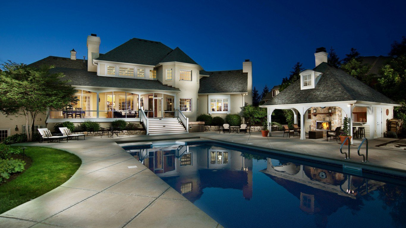 houses luxury house night pool beautiful home pictures for desktop 1366768